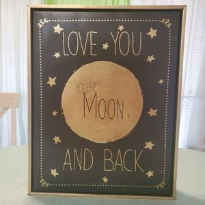 Love You To The Moon and Back - Grey by Jo Moulton